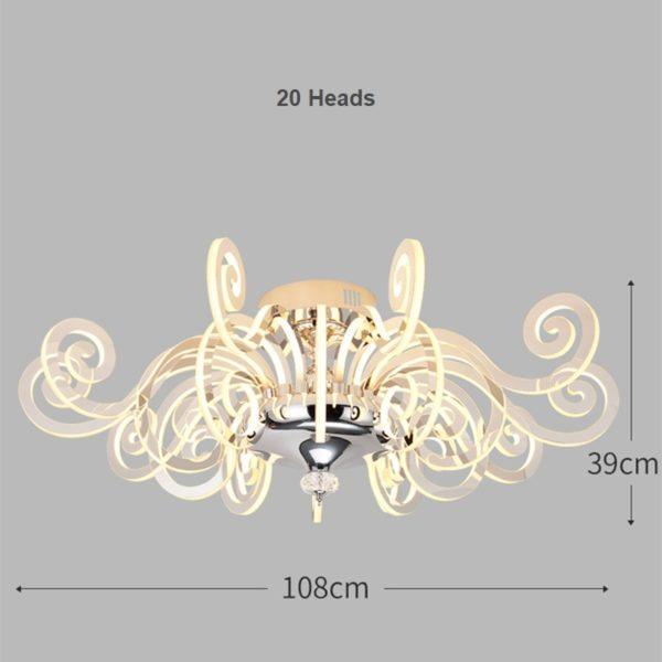 Postmodern Luxury LED Luster Ceiling Lights