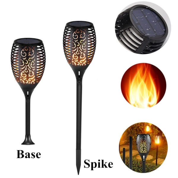 Dancing Flames Outdoor LED Solar Torch Light