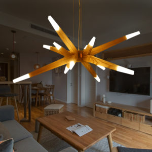 Creative Postmodern Wooden Pendant Light