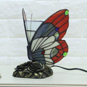 Staned Glass Butterfly Night Lamp Light