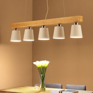 Postmodern Nordic Wooden Pendant Lamp Lights