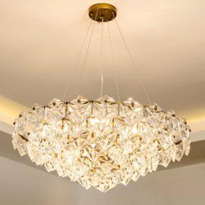 Elegant Postmodern Crystal Chandelier Variations