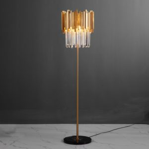Luxury Crystal Floor Lamp with Marble Base
