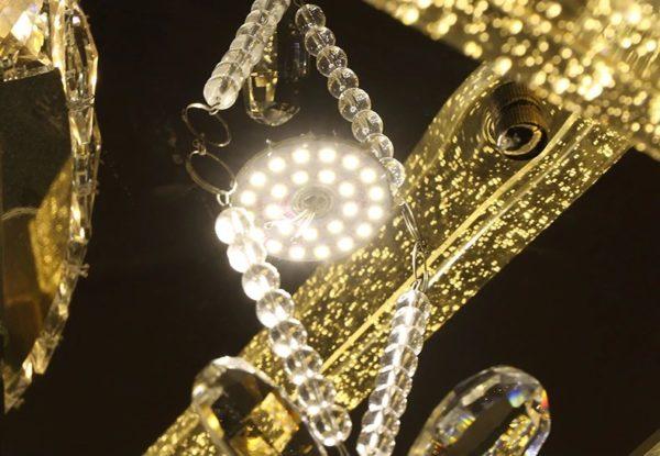 Diamond Finish Crystal LED Ceiling Lamp