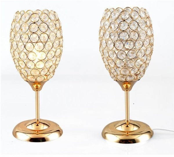 Crystal Chalice Table Lamp