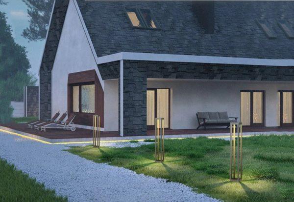 Minimalist Outdoor Waterproof Lamp for Courtyard Garden