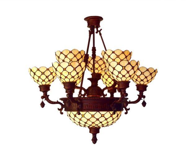 Pineapple Design Tiffany Pendant Light Chandelier
