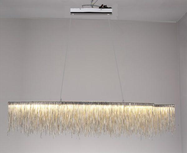 Post-modern Steel Chain Chandelier Pendant Lamp Light