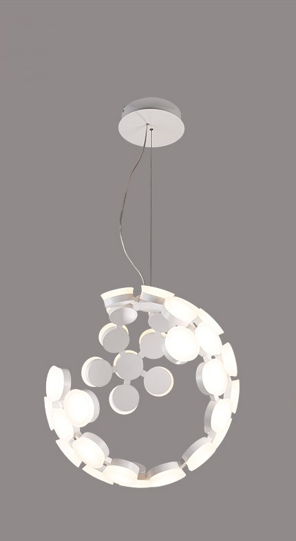 Postmodern Incomplete Sphere LED Pendant Light