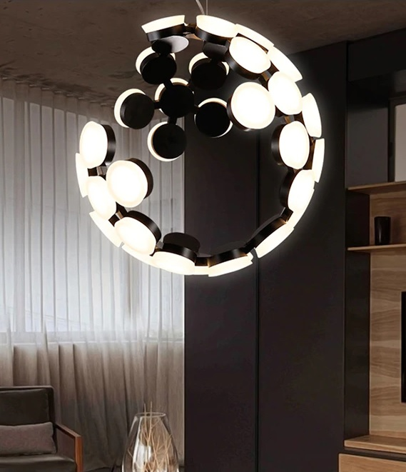 Postmodern Modular Eclipse LED Pendant Light