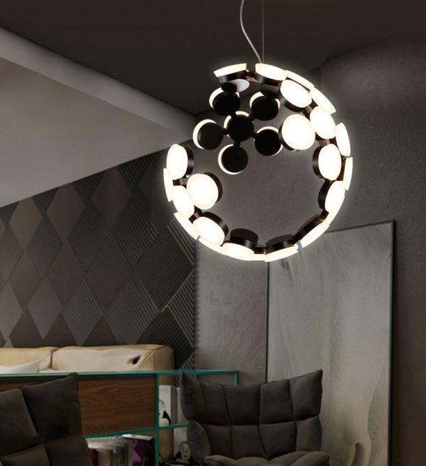 Postmodern Modular Eclipse LED Pendant Light