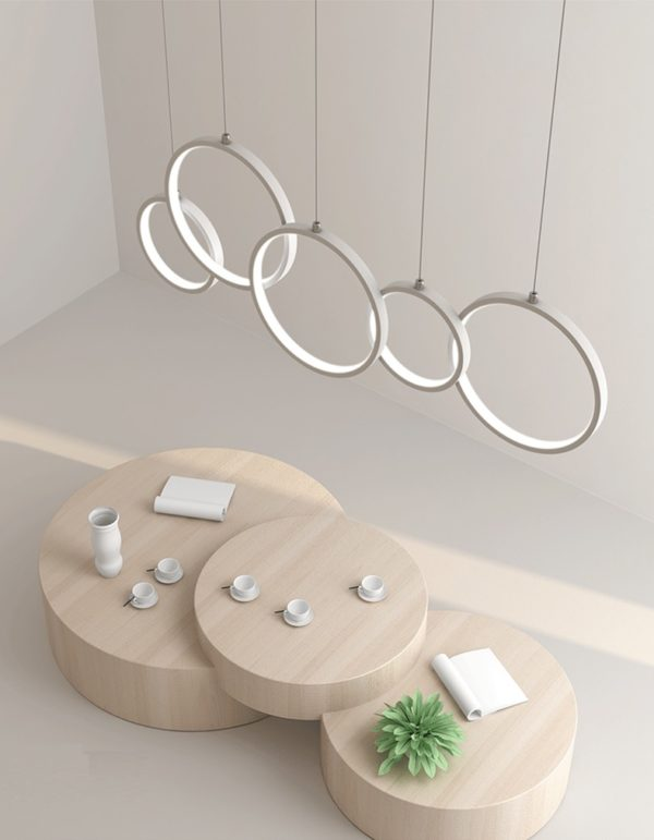Postmodern Minimalist Chandelier Ring Pendant Lights