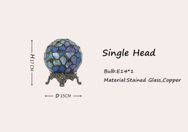Spherical Stained Glass Night Lamp Light