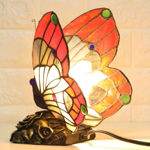 Staned Glass Butterfly Night Lamp Light