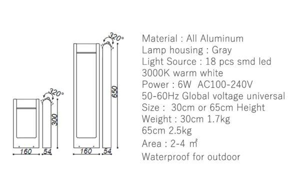 Postmodern Waterproof Lawn Lamp