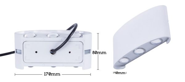 Waterproof Outdoor Wall Lamp Up/Down 6W