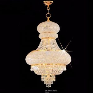 Golden Postmodern Crystal Chandeliers