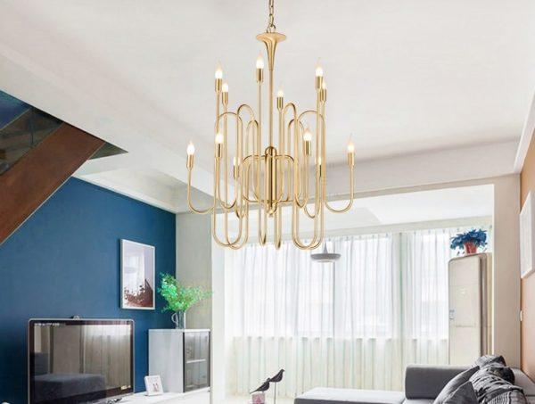 Postmodern Luxury Candlelight Chandelier