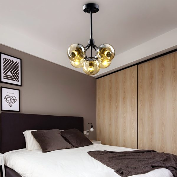 Postmodern Stained Glass Ceiling Lamp Lights