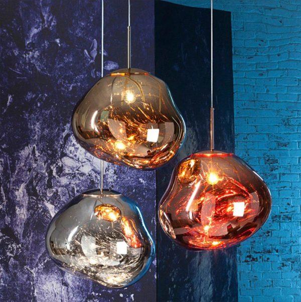 Postmodern Molten Lava Irregular Pendant Lamp Light