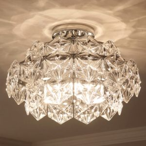 Postmodern Crystal Ceiling Light