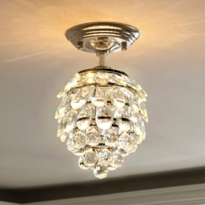 Simple LED Crystal Ceiling Light Fixture