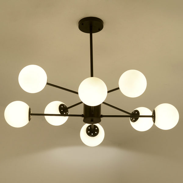 Brief Frosted Glass Balls Ceiling Fixture