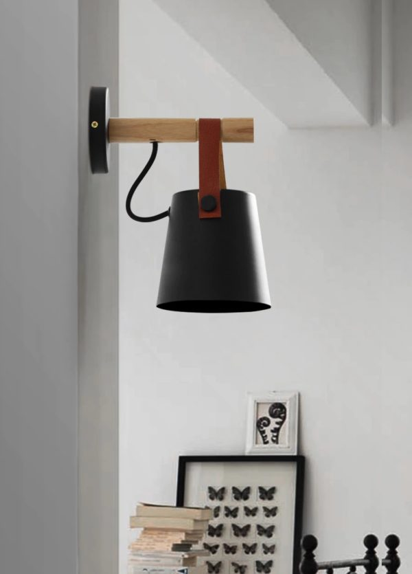 Postmodern Contemporary Wooden Wall Lamp