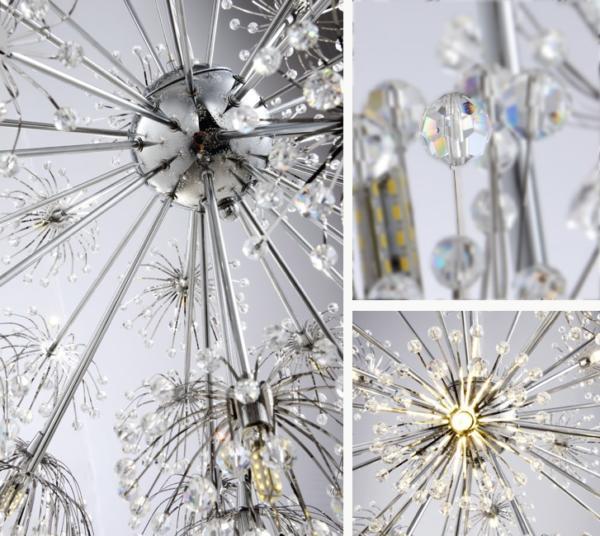 Flower Spark K9 Crystal Pendant Light