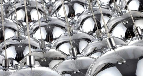Reflective Glass Shade Pendant Lights