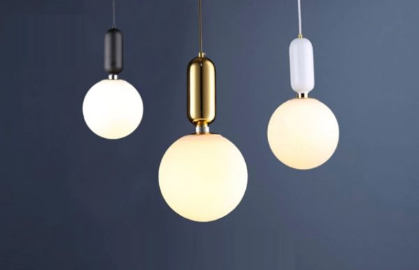 Retro Frosted Glass Pendant Lights