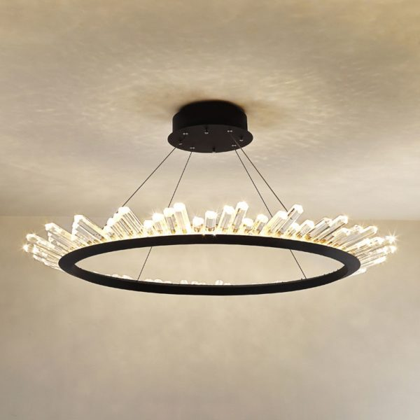 Ceiling Light Ring Crystal Inlays