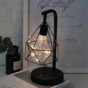 Decorative Iron Cage Desk Lamp