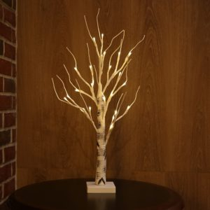 Bonsai Table Lamp Silver Birch Light