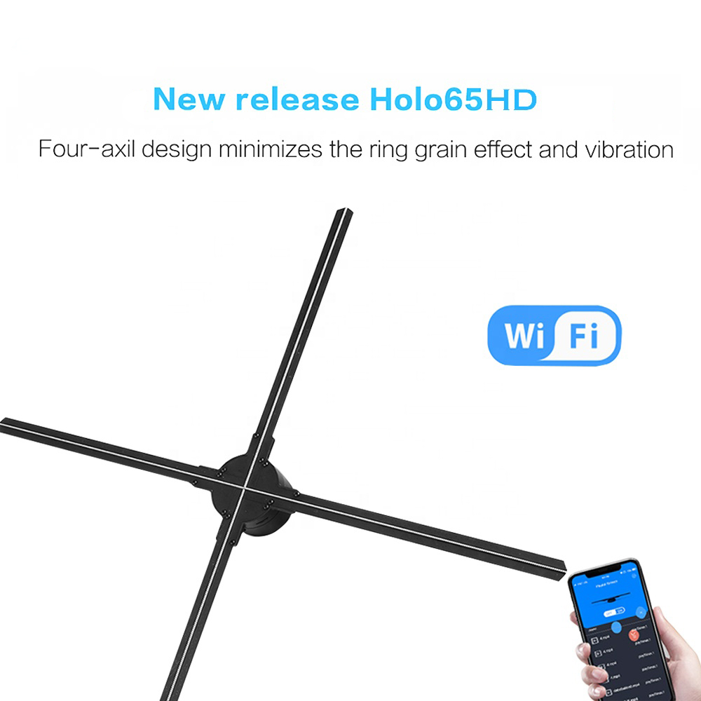 3D Holographic Display Player Fan with Wifi iOS Android App