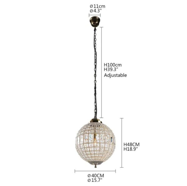 Royal Crystal Pendant Light Crystal Luster Empire Ball Crystal Ball Lamp Crystal Chandelier