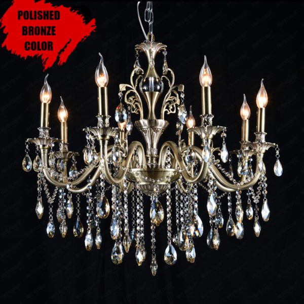 Luxury Crystal Lustre Bronze Chandelier