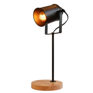 Industrial Desk Lamp Wood Base
