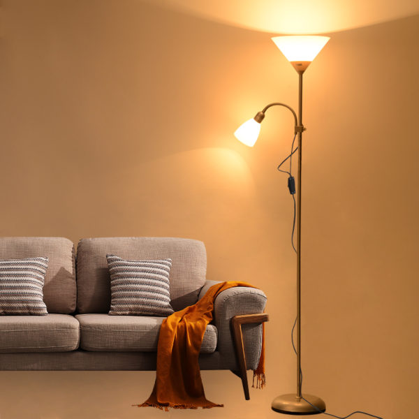 Double Head Floor Lamp Adjustable Floor Lamp Minimalist Floor Lamp