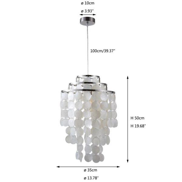 Seashell Pendant Light Seashell Chandelier LED Chandelier