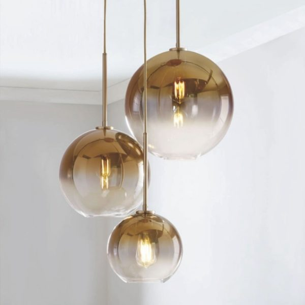 Glass Ball Pendant Gold