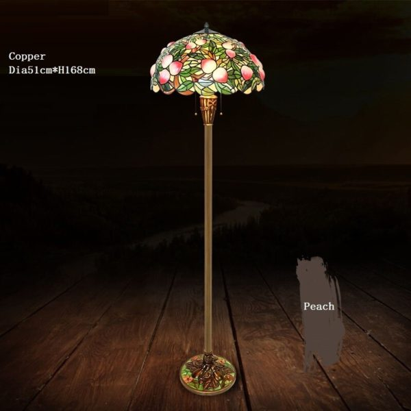 GARDEN - Tiffany Floor Lamps peach tree
